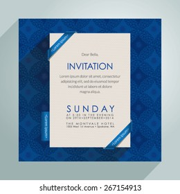 Beautiful vector invitation card. EPS 10