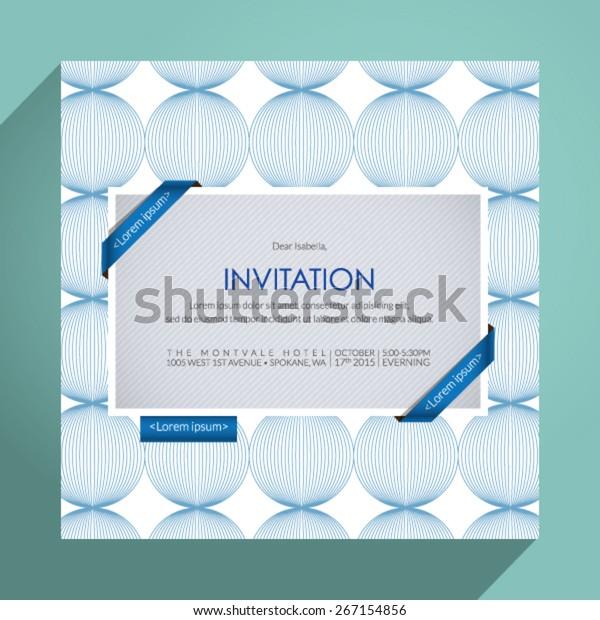 Beautiful Vector Invitation Card Eps 10 Stock Vector