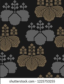 Beautiful vector Japanese seamless pattern ornamental style and flowers. Vector unique seamless asian texture.For printing on packaging, textiles, paper, manufacturing, wallpapers, scrapbooking.