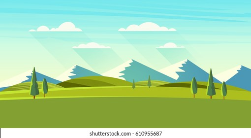 Beautiful vector landscape.