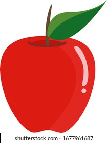Beautiful vector red apple icon