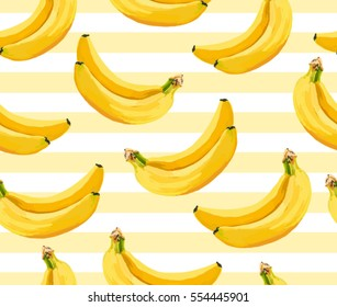 Beautiful vector seamless pattern with banana. Perfect for wallpapers, web page backgrounds, surface textures, textile.