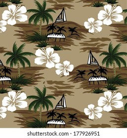 beautiful vector tropical.Seamless beach background