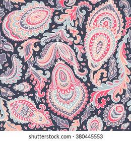 Beautiful vector vintage floral leaf seamless pattern