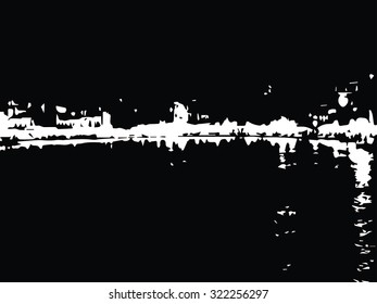 Beautiful view of the small town on the island of Crete at night texture