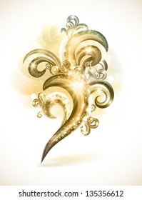 Beautiful vintage abstract design element.
