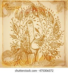 Beautiful vintage decorative batik background of