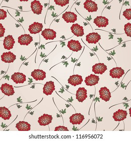 Beautiful vintage floral seamless pattern / Endless background for your designs, textile, wallpaper of wrapping paper