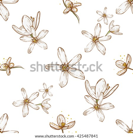 Beautiful vintage hand drawn flower white stock vector royalty free beautiful vintage hand drawn flower white flowers apple flowers seamless pattern cute artistic mightylinksfo