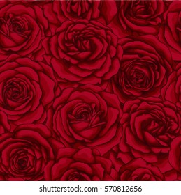 beautiful vintage seamless pattern with red roses. design greeting card and invitation of the wedding, birthday, Valentine's Day, mother's day and other holiday