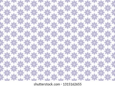 Beautiful violet texture with flowers (lotos). Symmetrical pattern. Decorative colored background. Vector eps 10