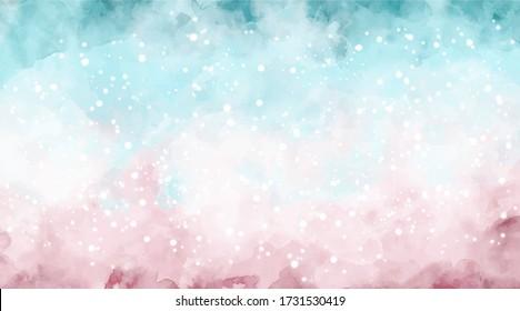 Beautiful wallpaper HD splash watercolor multicolor blue pink, pastel color, abstract texture colorful. Colorfull background watercolor. lettering background. Rainbow color, sky, brush strokes wash.