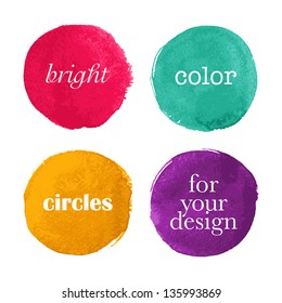 Beautiful watercolor design elements. Vector illustration