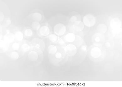 beautiful white bokeh lights effect background design