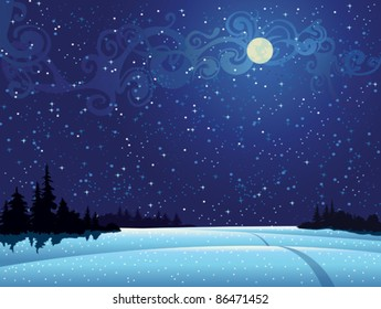 Snowy Night Sky Images Stock Photos Vectors Shutterstock