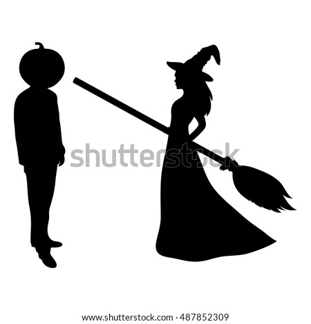 halloween broom shutterstock witch picturesque silhouette www