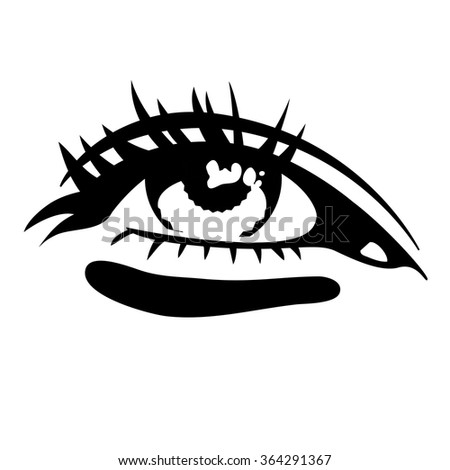 Beautiful Woman Eye Vector Illustration Drawing Stock Vector