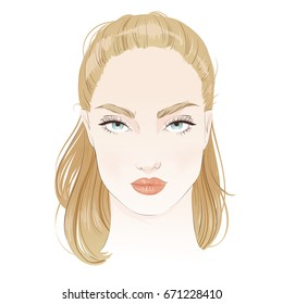 Woman Face Drawing Images Stock Photos Vectors Shutterstock