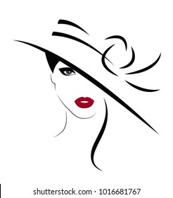 Beautiful Woman in hat. Vector