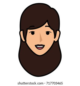 beautiful woman head avatar character