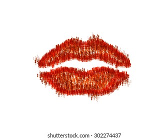 Beautiful woman lips easy editable