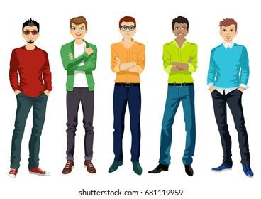 Handsome Boy Cartoon Hd Stock Images Shutterstock