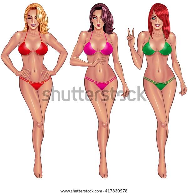Mädchen Weißes Perfekter Körper Perfekter Körper