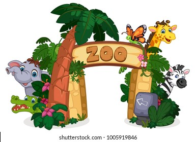 Cartoon Zoo Images Stock Photos Vectors Shutterstock 920 x 880 png 400 кб. https www shutterstock com image vector beautiful zoo entrance gate vector illustration 1005919846