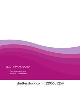 Beauty background, vector design waves