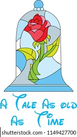 Beauty and the beast rose for T-shirt