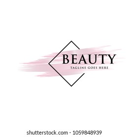 beauty brush logo icon vector template