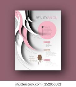 Beauty Care & Salon Back Flyer & poster Template