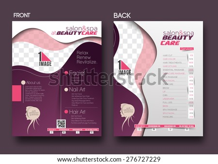 beauty care salon flyer poster template のベクター画像素材