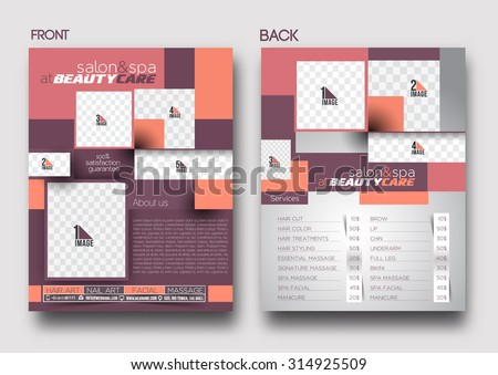 Beauty Care Salon Flyer Poster Template Stock Vector (Royalty Free ...