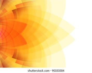 beauty concept sunflower illustration