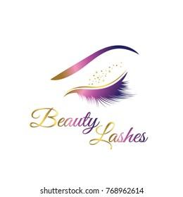 Beauty Cosmetic Eye Lashes Logo Symbol Icon