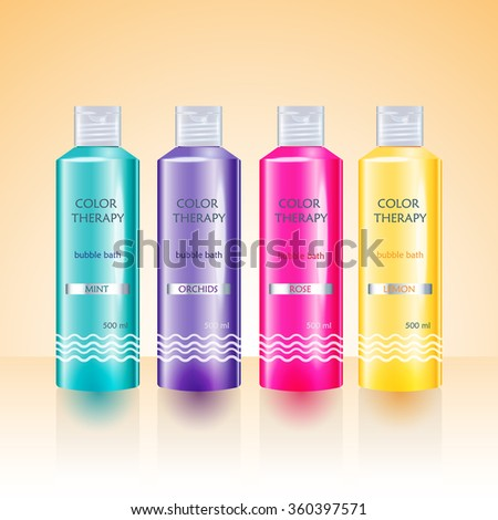 beauty cosmetics packaging design templates body stock vector