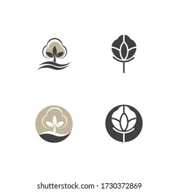 Beauty Cotton flower vector , Simple  icon Cotton flower template symbol nature