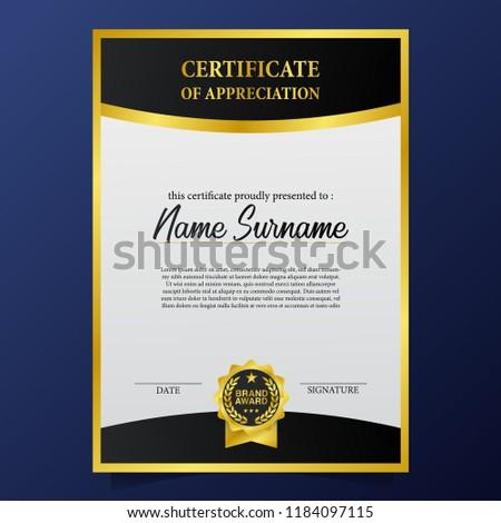 beauty elegant certificate template 3 d brand stock vector royalty