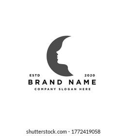 beauty face woman salon spa and wellness logo design