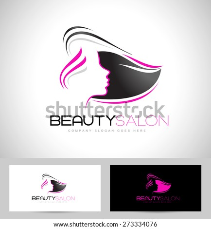 Beauty Female Face Logo Design Cosmetic Salon Stock Vector ...