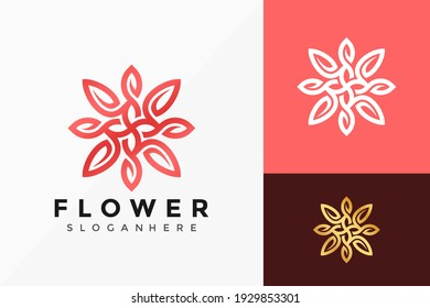 Beauty Flower Jewellery Logo Vector Design. Abstract emblem, designs concept, logos, logotype element for template.