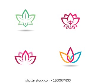 Beauty flower logo illustration