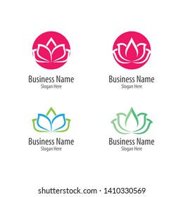 Beauty flowers logo template vector icon