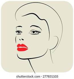 Beauty girl. Fashion beautiful woman face.