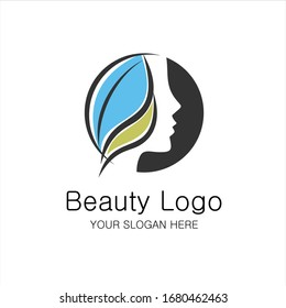 Beauty girl logotype. An elegant logo for beauty, fashion and hairstyle related business. All elements are fully vector