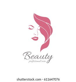 Beauty girl logotype. An elegant logo for beauty, fashion and hairstyle related business. All elements are fully vector and can be used for both print and web