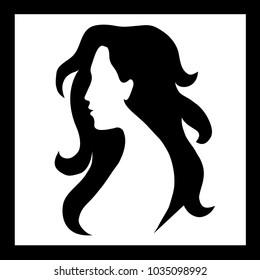 beauty girl silhouette