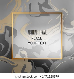 Beauty golden frame with dark seamless abstract design pattern. For design presentations, print, flyer, business cards, invitations, calendars, sites, packaging and covers