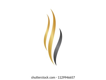 Beauty hair logo vector template